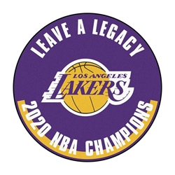 Los Angeles Lakers 2020 Champions Basketball 27 Inch Mat