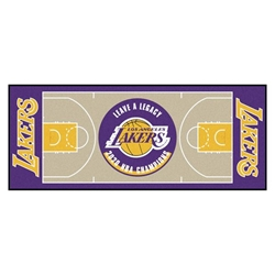 Los Angeles Lakers 2020 Champions NBA Court Large Runner