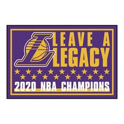 Los Angeles Lakers 2020 Champions 3x5 Rug