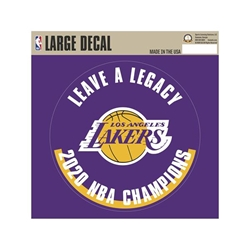 Los Angeles Lakers 2020 Champions Large Decal