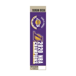 Los Angeles Lakers 2020 Champions Team Slogan Decal