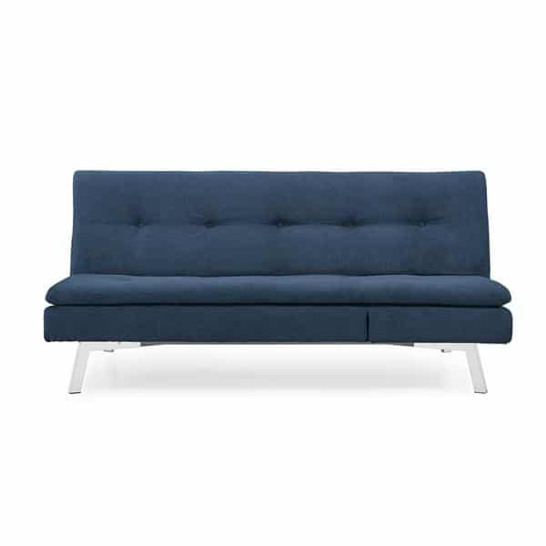 Kelly 3 Seater Splitback Sofa Converitble with Chaise  - Cozy Navy