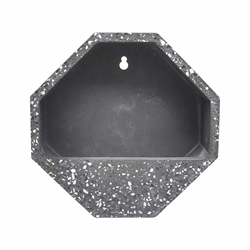 "10"" Wall Planter Terrazo Effect- Dark Gray"