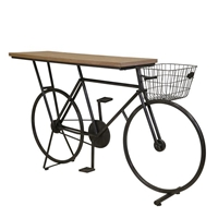 Bicycle Console Table - Charcoal