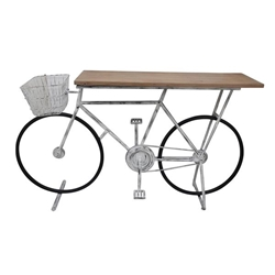 Bicycle Console Table - White