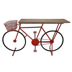 Bicycle Console Table -Red