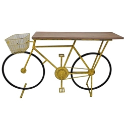 Bicycle Console Table -Yellow
