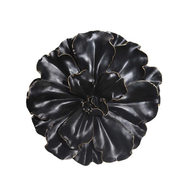 Black and Gold Wall Flower -  15.5""
