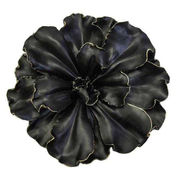 Black and Gold Wall Flower 20""