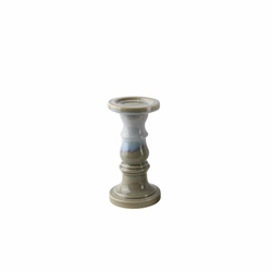 "Ceramic 10"" Candle Holder - Blue & Gray Reactive"