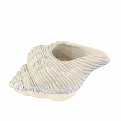"Ceramic 11"" Seashell Planter-Lt Blue"