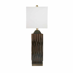 "Ceramic 30"" Art Deco Table Lamp - Green"