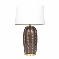 "Ceramic 31"" Ribbon Table Lamp -Charcoal"