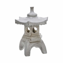 "17"" Temple Lighthouse Decor - Gray"
