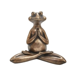Copper Yoga Frog - Prayer Han