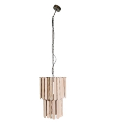 "Fir Wood 65"" Swag Lamp - Natural"
