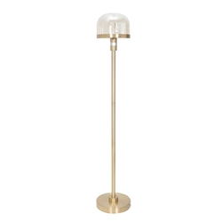 "Glass 59"" Dome Floor Lamp - Gold"