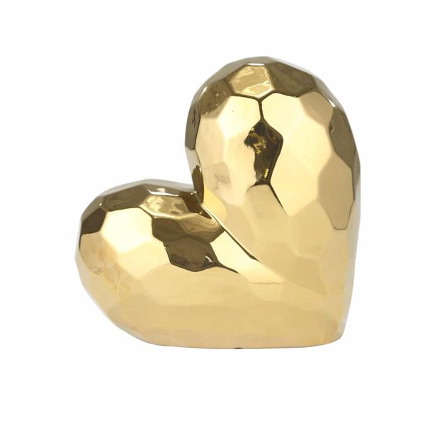 Gold Ceramic Heart 7.75""