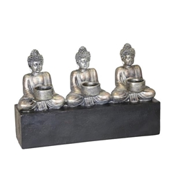 3 Buddha Tealight Candle Holder