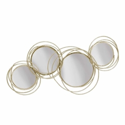 Looped Gold 4 Circle Mirrors