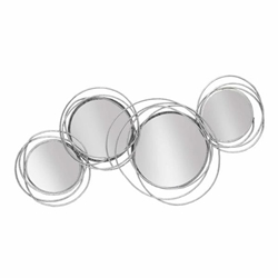 Looped Silver 4 Circle Mirrors