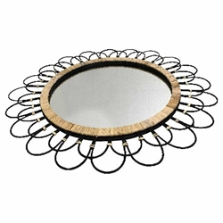 "36"" Daisy Wall Mirror - Black"