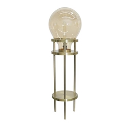 "Metal  & Glass 40"" Bulb Floor Lamp - Gold & Gold"
