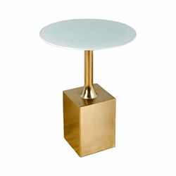 "Metal & Glass 23""H Side Table - Gold"