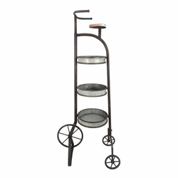 3-Tier Metal Tricycle Planter