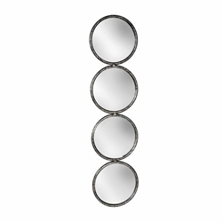 "48"" 4-Mirrored Circles- Black"