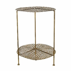 "Metal 22"" Lotus Accent Table - Gold"