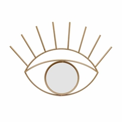 "Metal 23"" Eye Wall Decor With Mirror - Gold"