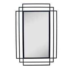 "Metal 24"" Rectangular Mirror -Black"