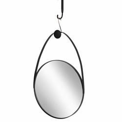 "Metal 27"" Oval Mirror - Black"