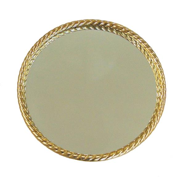 "Metal 28"" Rope Mirror - Gold"
