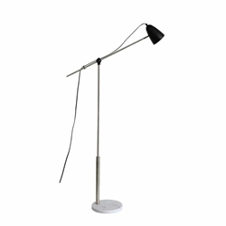 "Metal 61"" Floor Lamp With Marble Base - Silver"