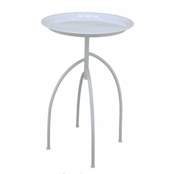Metal Tripod Accent Table - White