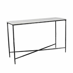 "Metal & Marble 47"" Console Table - Black"