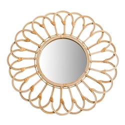 "Mirror 27"" Wicker Looped- Natural"