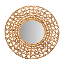 "Mirror 27"" Wicker Tapnigi- Natural"