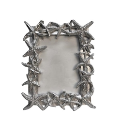 "Polyresin 5X7"" Starfish Photo Frame - Silver"