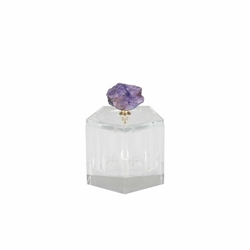 Purple Geode Crystal Box - 5-Sided
