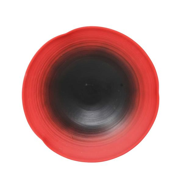 Red & Black Striped Ombre Plate