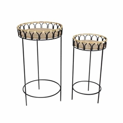 "Set of 2 26 & 23""H Plant Stan- Brown"