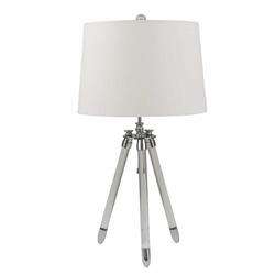 "Acrylic 29"" Tripod Table Lamp -Silver"