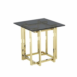 Stainless Steel Accent Table -Gold