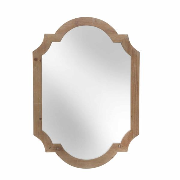 "Wood 44.5""  Frame Wall Mirror -Brown"