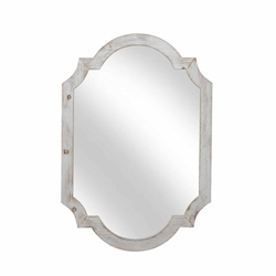 "Wood Frame Wall Mirror - 44.5""-Ivory"