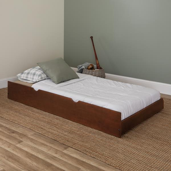 Solid Wood Trundle Bed - Walnut