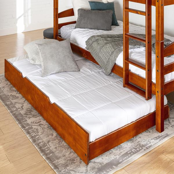 Solid Wood Trundle Bed - Cherry